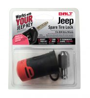 BOLT Spare Tire Lock for 18-21 Jeep Wrangler JL